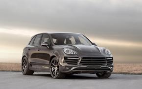 Porsche, cayenne, jeep, front, Tuning, Carbon, sky, porsche