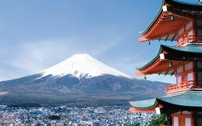 Fuji, Japan, city, sakura