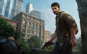 city, Apocalypse, machinery, epidemic, doomsday, muzhik, Joel, revolver, mask