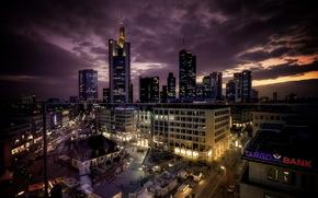 cidade, noite, construo