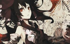 dziewczyna, czarne wosy, adny wygld, anime, Sztuka