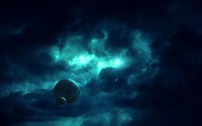 黑暗, 距离, 空间, 地球, 明星