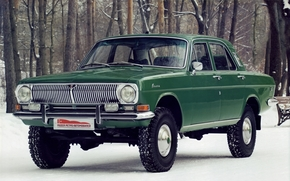 gas, Volga, prototype, Concept, front, green, Trees, Other machinery and equipment