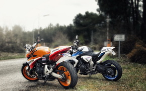 Motorcycles, road, Motorcycles