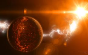 планета, температура, излучение, звезда, свет