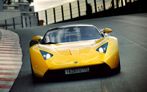 cars, car, machinery, machine, Maroussia, yellow, motion, road, speedway, Other brands