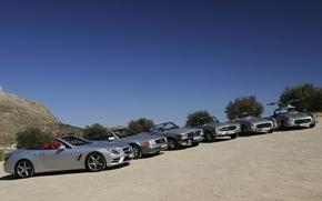 Mercedes, Clase SL, diferentes generaciones de, cielo, Mercedes