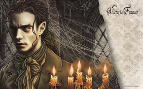 Victoria Frances, Gothic, man, Vampires, picture