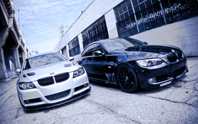 two brothers, black, white, bmw