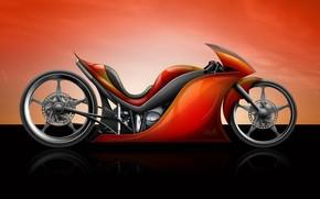 Bicicletta, motocicletta, rosso
