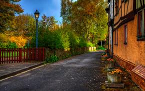 Дом, улица, фонарь
