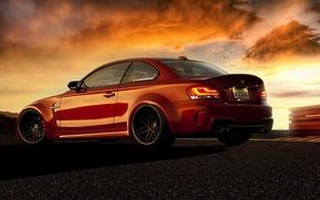 Voiture, rouge, BMW, voitures, Machinerie, Voiture