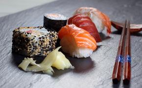 food, sushi, Sticks