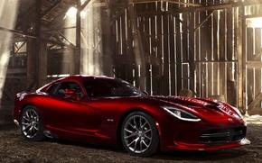 Dodge, Car, red, cars, machinery, Car