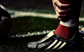 бутсы, футбол, нога