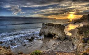 море, закат, природа, пейзаж