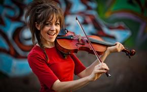 Линдси Стирлинг, девушка, скрипка, скрипачка