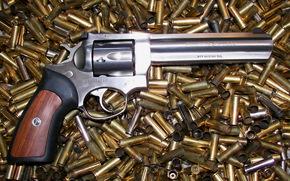 銃, リボルバー, スリーブ, 武器