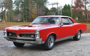 Pontiac, TRP, red, hardtop, compartment, classic, retro, muscle car, Other brands