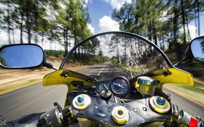 motorcycle, road, rate