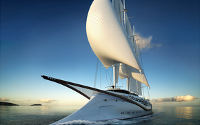 ocean, yacht, sail, travel, recreation