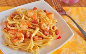 spaghete, tiei, Crevet, mrar, carne, pete, furculi, plac, fel de mncare