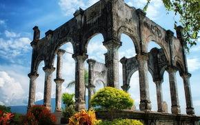 ruiny, natura, antyk, historia, kolumna