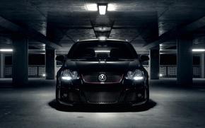 Volkswagen, vw golf, Hintergrundbilder Auto, Parkplatz, Parkplatz, Parkplatz, Autos, Maschinen, Auto