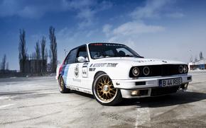 BMW, white, area, sky, bmw
