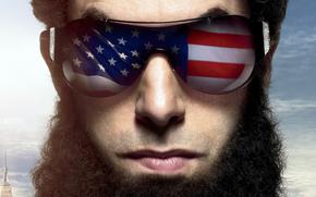 homem, face, cabelo, barba, culos, bandeira, EUA, DITADOR
