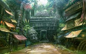 input, temple, Lane, market, Placis, home, jungle, head, god