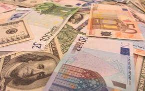 деньги, евро, доллары