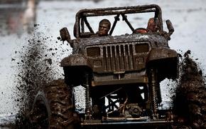 Jeep, Vaquero, suciedad, jeep, coches, Maquinaria, Coche