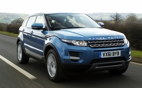 Land Rover, ranged rover, Ewok, prestige, crossover, front, blue, road, sky, Land Rover