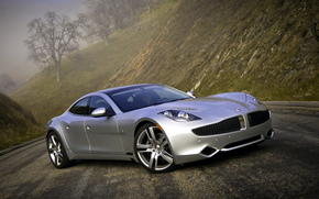 cars, car, machinery, machine, Fisker, karma, gray, road, Other brands