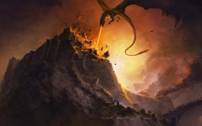 Fall Nargotronda, The Silmarillion, JRR Tolkien, destruction, siege, dragon, Glaurung, fire, fortress, battle