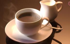 кофе, молоко, напиток