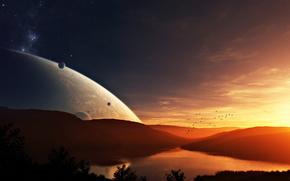 nebo.planety, Gwiazda, zachd soca, wiat obcy