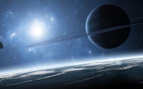 gas giant, Planet, satellites, Ring