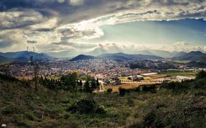 Spagna, Olot, paesaggio, citt, top