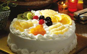 torta, dolcezza, crema