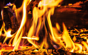 fuoco, fiamma, fal, carboni