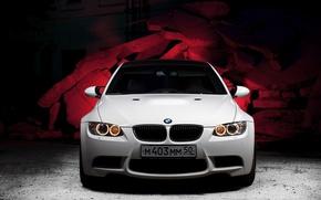 bmw, белая, машина, автомобили, машины, авто