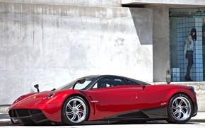 auto, auto, macchinario, macchina, Pagani, rosso, supercar