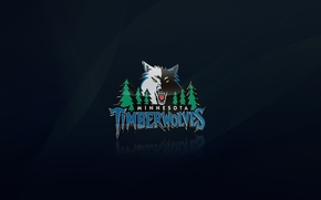 Minnesota, Timber Wolf, logo, loup, bleu, basket-ball