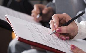 mano, penna, documentazione, Lita, contratto.