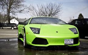 Supercar, acqua, Lamborghini