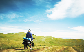 nature, Mountains, travel, bicycle, Tourist, tourism