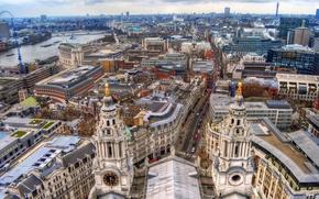 Londra, casa, fiume, architettura, strada, Panorama.