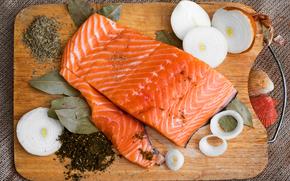 mae ryby, przyprawy, deska, uk, li laurowy, Piercie